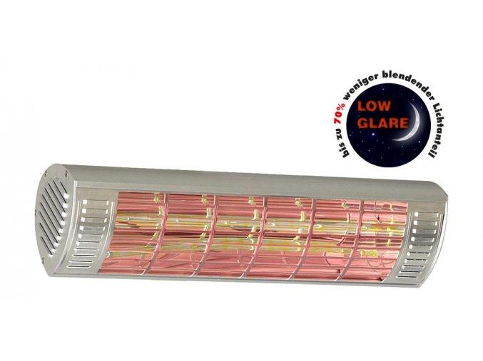 Sálavé infračervené topidlo CasaTherm W2000 Gold LowGlare, šedý
