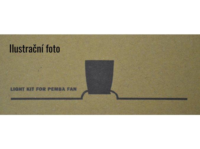 Světelný kit FARO 33471K bílý pro stropní ventilátor FARO 33471N Pemba