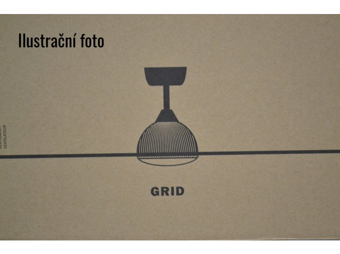 FARO 33341 GRID, třešeň, bílý stropní ventilátor  dálkové ovládání