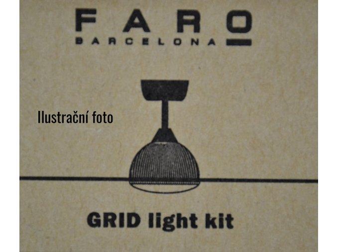 Světelný kit FARO 33341K bílý pro stropní ventilátor FARO 33341 GRID