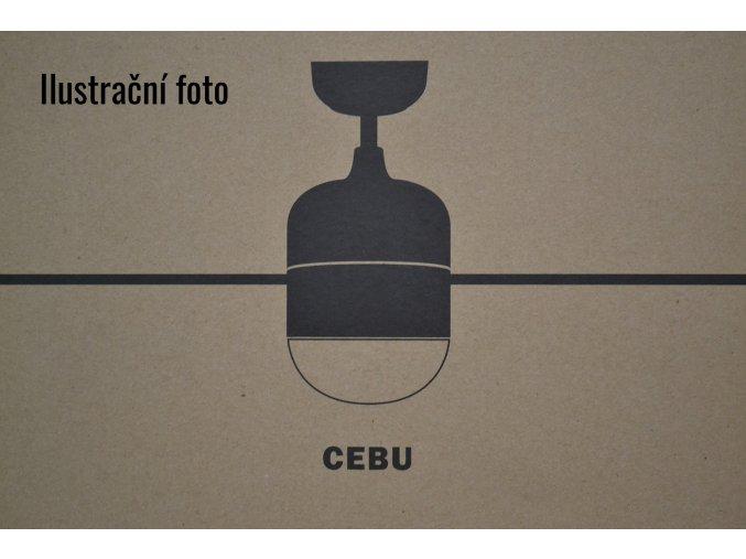 FARO 33609 CEBU, stříbrný/černý, stropní ventilátor se světlem