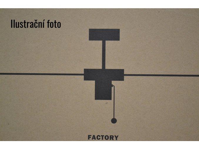 FARO 33611 FACTORY, stříbrný/černý, stropní ventilátor