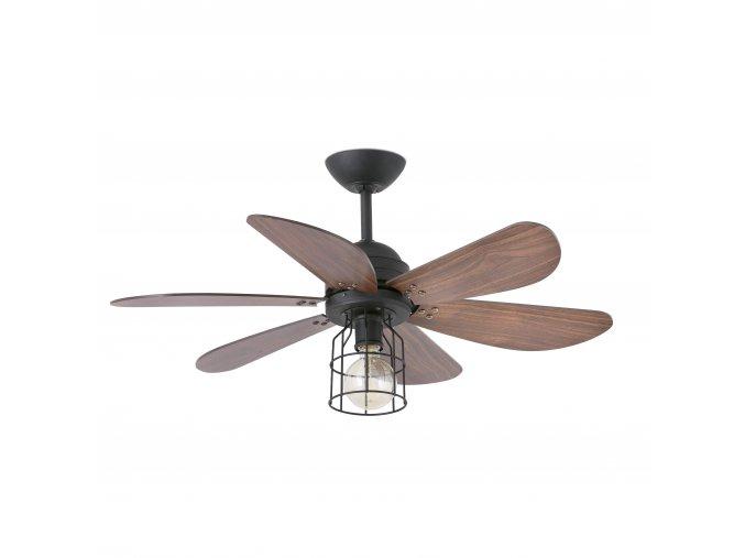 Stropní ventilátor se světlem FARO 33703 CHICAGO tmavě hnědý