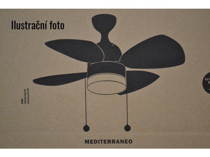 FARO 33706 MEDITERRANEO, javor/mahagon, matný nikl, stropní ventilátor se světlem