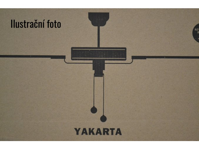 Stropní ventilátor FARO 33713 YAKARTA tmavě hnědý/černý