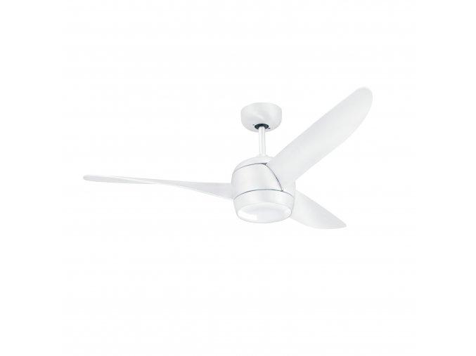 Sulion 072226 IMPALA, bílá, stropní ventilátor s LED světlem a DC motorem