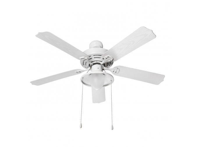 Sulion 075120 LINCOLN, bílá, stropní ventilátor se světlem
