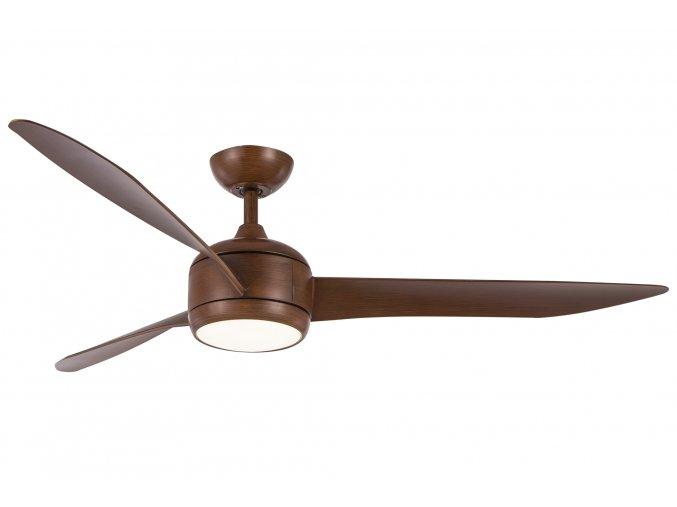 Sulion 072048 RAHU, hnědá, stropní ventilátor s LED světlem
