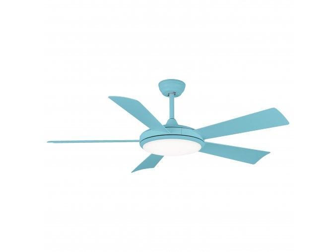 Sulion 72051 BERNAT, světle modrá, stropní ventilátor se světlem