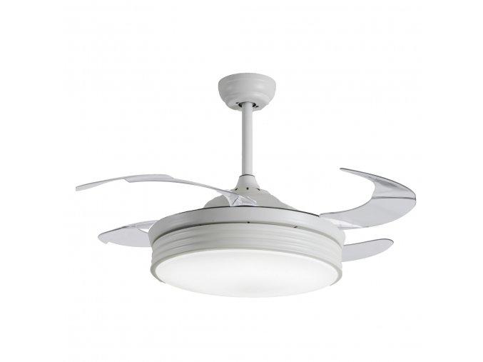 Sulion 075079 BOMBAY, bílá, stropní ventilátor se světlem