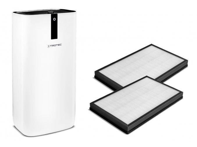 Set čističky vzduchu Trotec AirgoClean 15 E se dvěma HEPA filtry třídy E11 a aktivním uhlíkem