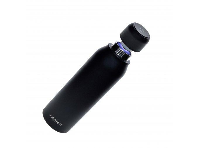 Noaton Naturaq černá, antibakteriální UV láhev na vodu