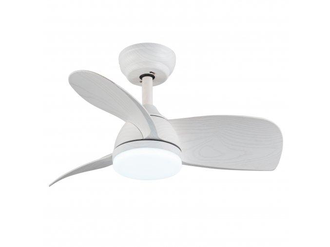 Sulion 75357 BEACH, bílá, stropní ventilátor s LED světlem a DC motorem