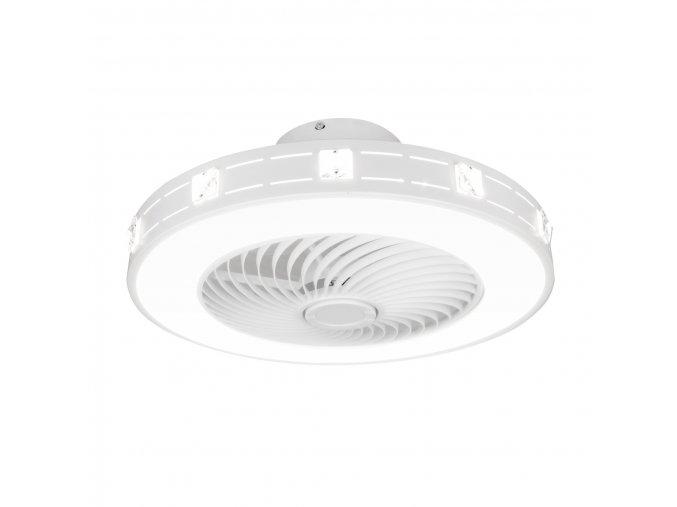 Stropní ventilátor se světlem Noaton 11050W Nebula - rozsvícený