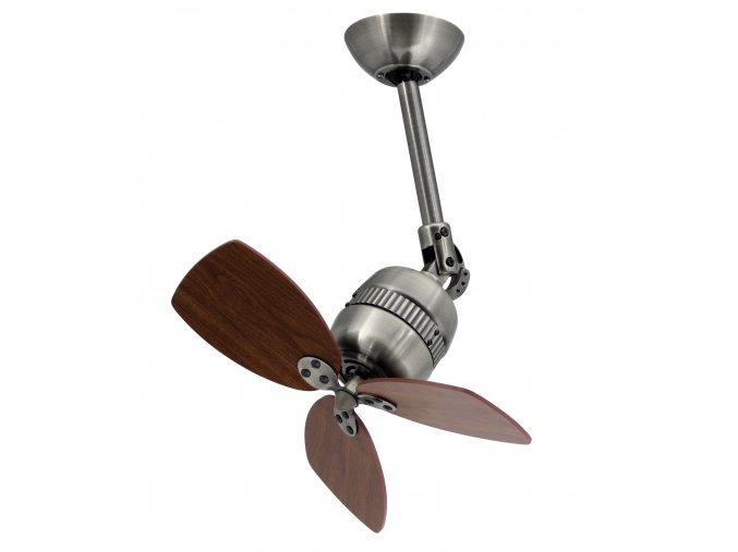 Stropní ventilátor AireRyder Toledo ořech a saténový nikl