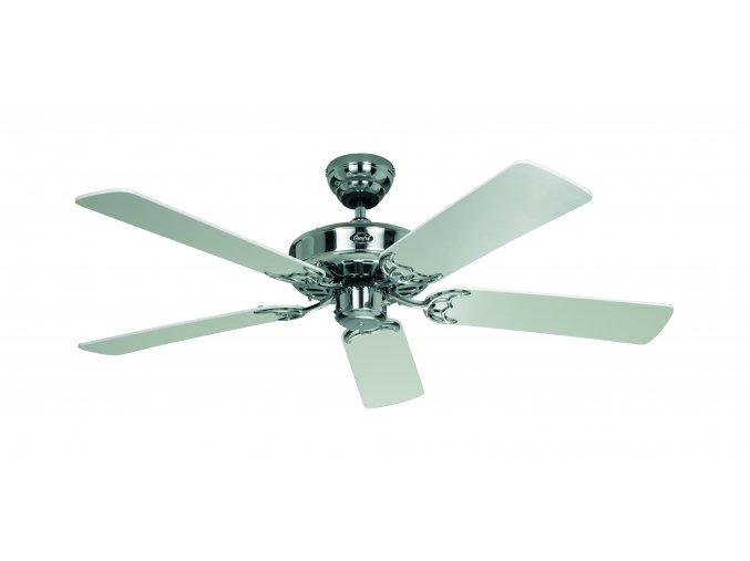 Stropní ventilátor bez světla CasaFan Classic Royal bílý a chromový