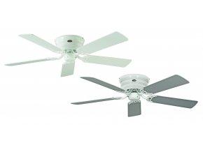 Stropní ventilátor do bytu CasaFan 5132061 Classic FLAT oboustranné lopatky, bílá, šedá