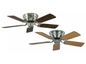Stropní ventilátor CasaFan Classic Flat (ořech, buk, saténový chrom)