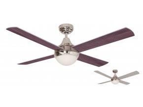 Stropní ventilátor se světlem Sulion 075005 Cross CH oboustranné lopatky