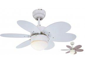 Stropní ventilátor se světlem Sulion 075155 Rainbow oboustranné lopatky
