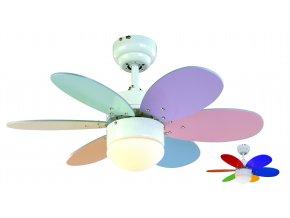 Stropní ventilátor Sulion Rainbow Colour 075165