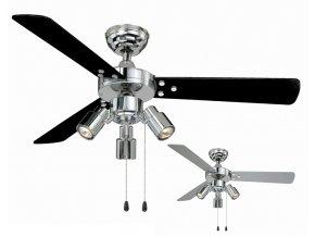 Stropní ventilátor AireRyder FN44444 CYRUS černý nebo stříbrný / chrom