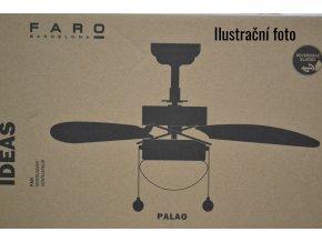 FARO 33186 PALAO, šedý, stropní ventilátor s osvětlením  řetízkové ovládání, dálkové ovládání lze dokoupit