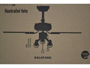 FARO 33301 GALAPAGO, šedý a borovice, stropní ventilátor se světlem  řetízkové ovládání, dálkové ovládání lze dokoupit