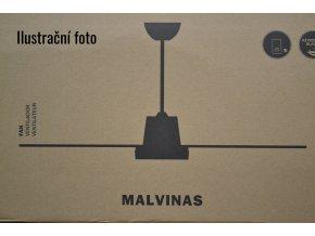 Stropní ventilátor FARO 33110 MALVINAS ořech nebo rudý mahagon/tmavě šedá