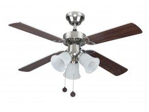 Stropní ventilátor se světlem Sulion HORNET 075439, oboustranné lopatky