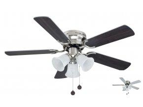 Sulion 075660 WESTLAND, šedá a ořech, stropní ventilátor se světlem  řetízkové ovládání, dálkové ovládání lze dokoupit