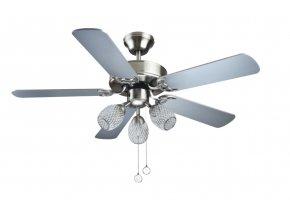 Sulion 072242 EMERAL, šedá a buk, stropní ventilátor s LED světlem  LED světlo, řetízkové ovládání, dálkové ovládání lze dokoupit