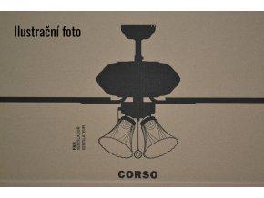 FARO 33274 CORSO, rudý mahagon nebo dub/tmavě hnědá, stropní ventilátor se světlem  řetízkové ovládání, dálkové ovládání lze dokoupit