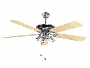 Sulion 075128 SPIKE, stříbrná a béžová, stropní ventilátor s LED světlem  LED světlo, řetízkové ovládání, dálkové ovládání lze dokoupit