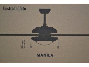 FARO 33190 MANILA, bílý a javor, stropní ventilátor se světlem  řetízkové ovládání, dálkové ovládání lze dokoupit