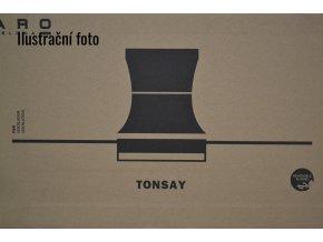 FARO 33385 TONSAY, šedý a mahagon, stropní ventilátor se světlem  ovládání dálkové