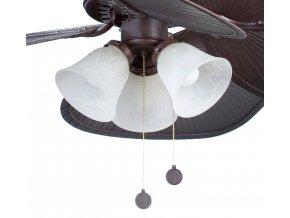 Světelný kit FARO 33352L tmavě hnědý pro stropní ventilátor FARO 33352 CUBA