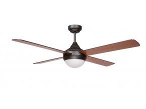 Sulion 075268 CROSS, hnědá, stropní ventilátor se světlem