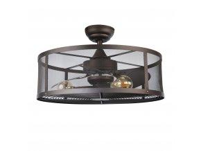 Sulion 075262 FLORA, tmavě hnědá, stropní ventilátor se světlem