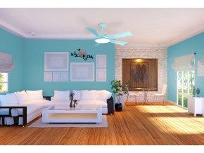 Sulion 075063 BERNAT, světle modrá, stropní ventilátor se světlem