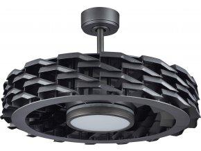 Sulion 072827 RUBIK, černá, stropní ventilátor se světlem