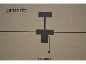 Stropní ventilátor FARO 33611 FACTORY stříbrný/černý