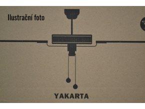 Stropní ventilátor se světlem FARO 33711 YAKARTA hnědý/tmavě hnědý