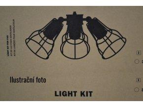 Světelný kit FARO 33714 černý pro stropní ventilátor FARO YAKARTA