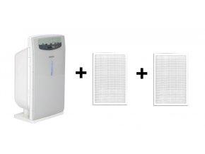 Čistička vzduchu Comedes LR 200 šedo-bílá + 2 ks náhradních filtrů (standardní)