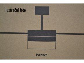 FARO 33608 PANAY, matný nikl a mahagon, stropní ventilátor se světlem  dálkové ovládání