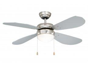 Stropní ventilátor se světlem AireRyder FN43332 Classic stříbrný/saténový nikl