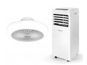 Zvýhodněná sada mobilní klimatizace a stropního ventilátoru (Noaton AC 5108 + Noaton 11045W Polaris)