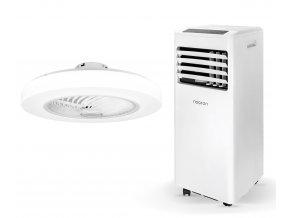 Zvýhodněná sada mobilní klimatizace a stropního ventilátoru (Noaton AC 5108 + Noaton 12058W Triton)