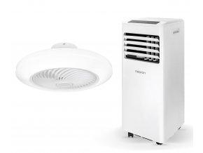 Zvýhodněná sada mobilní klimatizace a stropního ventilátoru (Noaton AC 5108 + Noaton 12050W Triton)